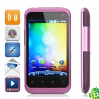 "G99 Android 2.3 GSM Bar Phone w/ 3.2"" Capacitive, Quad-Band, Wi-Fi and Dual-SIM - Purple"