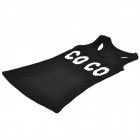 MC Soft COCO Pattern Short All-match Vest - Black