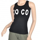 MC Soft COCO Muster kurz All-Match Vest - schwarz