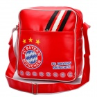 FC BAYERN MÜNCHEN Logo-Muster PU-Leder One-Shoulder-Bag - Red