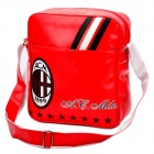AC Mailand Logo-Muster PU-Leder Einzel-Shoulder Bag - Red