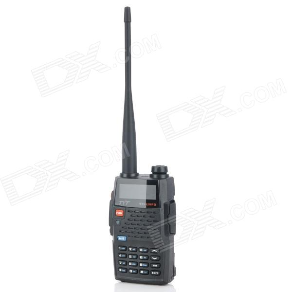 TYT 1.5 LCD 4W 136~174MHz / 400~470MHz Dual Band Walkie Talkie - Black