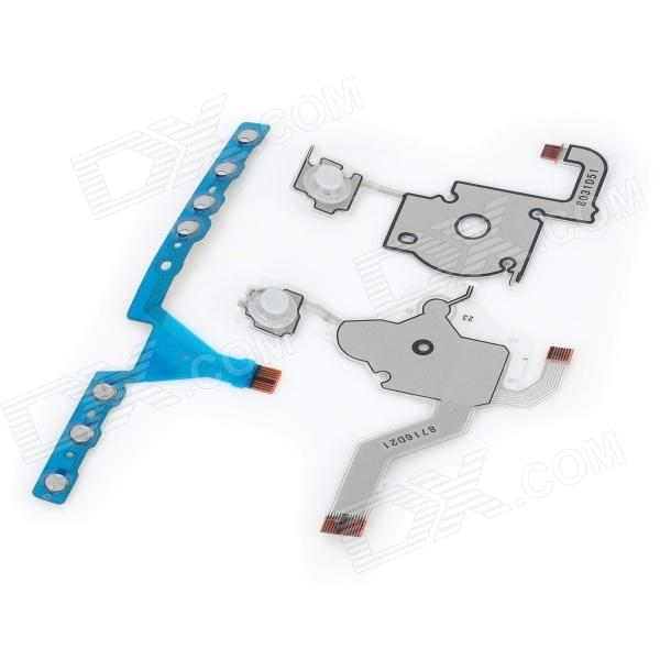 Replacement Button Keypad Flex Cable Set for PSP 3000 (Without LED) repair parts replacement speakers for psp 1000 2 piece set