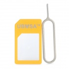 Micro Sim Card to Standard Sim Card Adapter w/ Eject Tool for iPhone 3G / 3GS / 4 / 4S - Orange