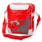 NBA Miami Heat Logo-Muster PU-Leder Einzel-Shoulder Bag - rot + weiß