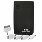 5000mAh Mobile External Power Battery Charger with Dual USB / 4-LED - Black