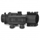 4x32mm Tactical Optical Fiber Red/Green/Blue Dot Sight Scope for 20mm Rail Gun - Black (1 x CR2032)