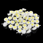 DIY 1W 120LM 6000K Cold White Light LED Lamp Bead (DC 3~3.6V / 50 PCS)