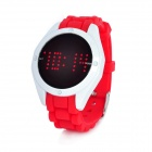 Stilvolle rote LED Touch-Screen-Digital-Armbanduhr - weiß + rot (1 x CR2032)