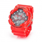 Sports Diving Wrist Watch w/ EL Backlit / Week / Stopwatch / Alarm Clock - Red (1 x CR2016/SR626SW)