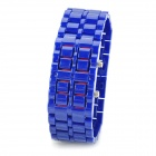 Fashion Alloy Red Light LED Digital Armbanduhr - Blau (1 x CR2032)