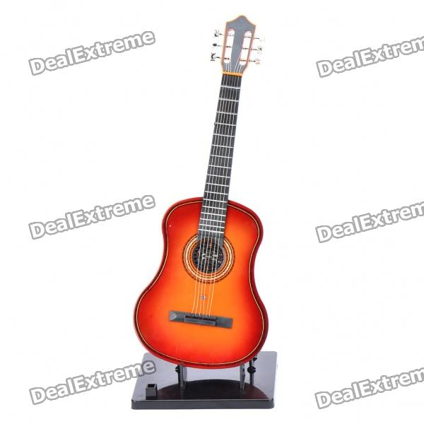 Mini Handheld 17 6-String Electric Guitar Toy - Random Color (2*AA) mini handheld 17 6 string electric guitar toy random color 2 aa