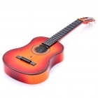 "Mini Handheld 17"" 6-String Electric Guitar Toy - Random Color (2*AA)"