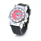 Creative Liverpool FC Logo Double-side Flip Quartz Analog Wrist Watch - Black + Red (1 x SR626)