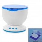 5-LED Blue Light Ocean Waves Projector Pot Speaker - Blue + White (4 x AA)