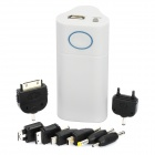 External 6600mAh Emergency Power Battery Charger for Cellphone - White