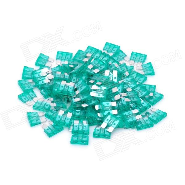12V 30A Car Power Fuses - Green (100-Piece Pack) thumbnail