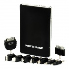 10000mAh Mobile External Power Battery Charger with Adapters - Black