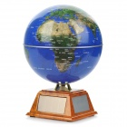 AC/Solar Powered Automatic Rotating Globe with Light Effect - Blue + Brown