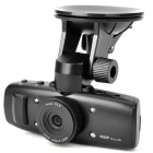 "5.0MP Wide Angle Car DVR Camcorder w/ HDMI / TF / GPS Logger - Black (1.5"" TFT)"