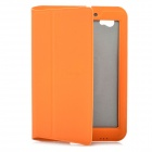 Flip Open Protective PU Leather Case for Samsung Galaxy Tab P6800 / P6810 - Orange