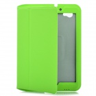 Flip Open Protective PU Leather Case for Samsung Galaxy Tab P6800 / P6810 - Green