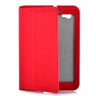 Flip Open Protective PU Leather Case for Samsung Galaxy Tab P6800 / P6810 - Deep Red