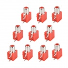 DIY Parts RCA Socket Connectors - Red + Silver (10-Piece Pack)