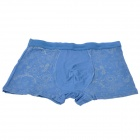 Men's Soft Bamboo Charcoal Fiber Anion Energy Brief Underwear - Grey Blue (Size-M)