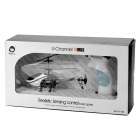 777-298 3-CH Remote Sensing Infrared R/C Helicopter w/ Gyro - Black + White