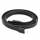 USB 2.0 Male to Micro USB 5-Pin Male Data / Charging Flat Cable - Black (1M)