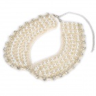 Elegant Pearl Style s Decoration Collar Necklace - White