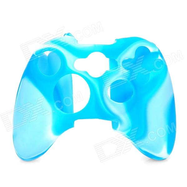 Protective Silicone Cover Case for Xbox 360 Controller - Camouflage Blue protective silicone cover case for xbox 360 controller yellow blue