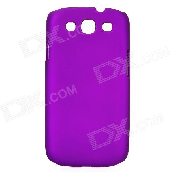 Protective Plastic Back Case for Samsung Galaxy S3 I9300 - Purple shining rhinestone plastic case for samsung i9300 galaxy s3 purple transparent