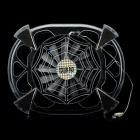 USB Powered Fan 2100-RPM Cooling Pad for 10'' Laptops - Transparent