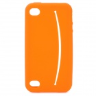 Cute Smile Face Style Protective Silicone Case with Eye Sticker for iPhone 4 / 4S - Orange