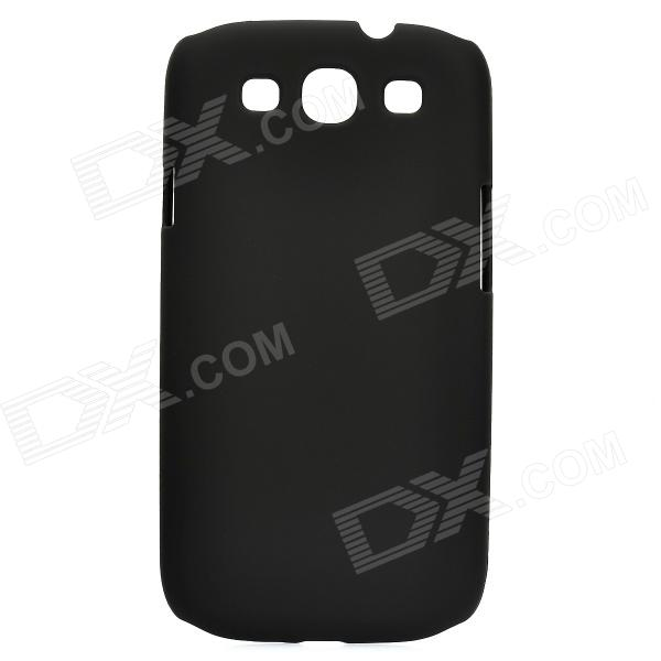 Protective Plastic Back Case for Samsung Galaxy S3 I9300 - Black fashionable protective bumper frame case with bowknot for samsung galaxy s3 i9300 black