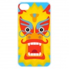 Cartoon Dragon Pattern Protective Back Case for iPhone 4S - Yellow