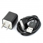 AC Power Adapter Charger w/ USB Charging Cable for Samsung P1000 - Black (US Plug)