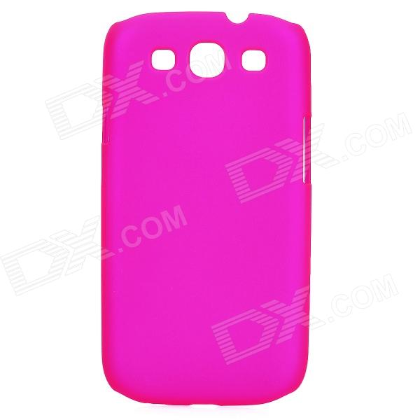 Protective Plastic Back Case for Samsung Galaxy S3 I9300 - Deep Pink