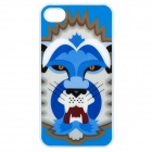 Cartoon Lion Pattern Protective Back Case for iPhone 4S - Blue