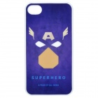 Cartoon Style Protective Back Case for iPhone 4S - Blue