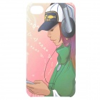 Cartoon Girl Style Protective Back Case for iPhone 4 / 4S - Green + Black