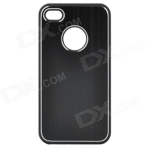 Protective Back Case for Iphone 4 / 4S - Black + Silver