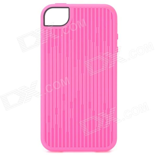 Protective TPU Case for Iphone 4 / 4S - Deep Pink biw 004 leopard style protective pu leather case for iphone 4 4s deep pink