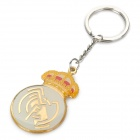 Real Madrid Emblem Pattern Zinc Alloy Keychain - Golden + Silver