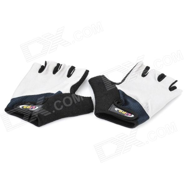 Non-slip Body Building Sports Cyling Half Finger Gloves - Grey + Black (Size XXL)