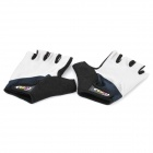 Non-slip Body Building Sports Cyling Half Finger Gloves - Grey + Black