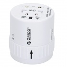 Travelling Universal AC Power Adapter Charger with UK / US / EU / AU Plug - White
