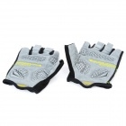 Outdoor Cycling Riding Half Finger Gloves with Protective Pad - Yellow + Black (Pair/Size-XL)